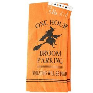 Halloween Kitchen Towels One Hour Broom Parking!